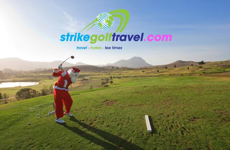 happy christmas strike golf travel